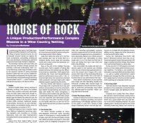 Front Of House Magazine Spotlights House Of Rock