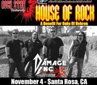 Metallica Tribute Benefit Concert on November 4 to assist Oaks of Hebron